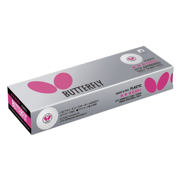 Butterfly 3-Star Ball G40+ (12pc pack)